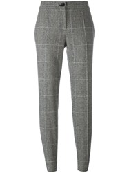 Dolce And Gabbana Tweed Houndstooth Check Trousers Black