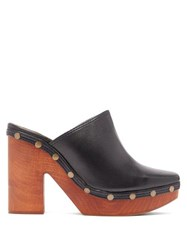 Jacquemus Sabots Leather Clog Mules Black