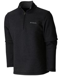 Columbia Men's Great Hart Mountain Half Zip Fleece Sweatshirt Black