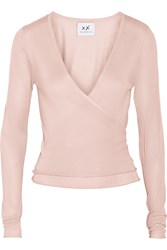Banjo And Matilda Ballet Silk And Cashmere Blend Wrap Cardigan Pink