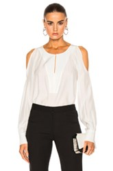 Barbara Bui Open Shoulder Blouse In White