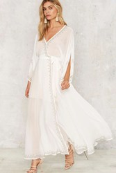 The Jetset Diaries Las Perlas Kimono Dress White