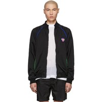 Versace Underwear Black Fluo Contrast Zip Up Jacket