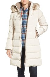 Vince Camuto Women's Down And Feather Fill Coat With Faux Fur Trim Hood