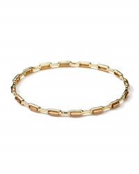Ippolita 18K Gold Rock Candy Gelato 16 Stone Bangle Cognac Citrine