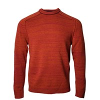 Lords Of Harlech Crosby Crewneck Sweater In Rust Red Yellow Orange