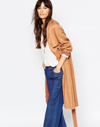 Just Female Trust Trenchcoat In Tobacco 988 Toast Ed Nut Brown