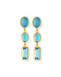 Gurhan Amulet Hue Opal Turquoise And Blue Topaz Drop Earrings