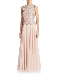 J Kara Embellished Popover Gown Blush Mercury