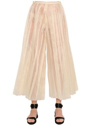 Patricia Padron Cropped Pleated Silk Organdy Pants