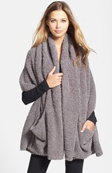 Women's Barefoot Dreams Cozychic Travel Shawl Grey Online Only Charcoal