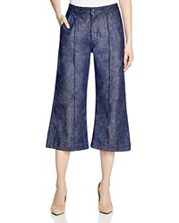 Whistles Lucie Utility Cropped Wide Leg Pants Denim