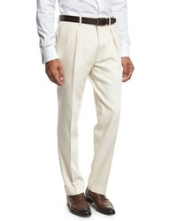 Tom Ford Double Pleated Trousers White