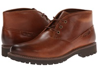 Clarks Montacute Duke Dark Tan Leather Men's Lace Up Boots Brown