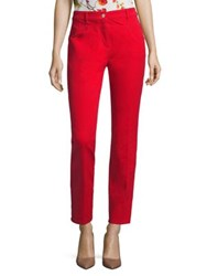 Escada J501 Colored Ankle Jeans Acrylic Red