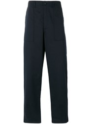 Universal Works Tailored Trousers Men Cotton 34 Blue