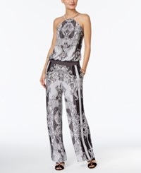 Inc International Concepts Printed Wide Leg Jumpsuit Only At Macy's Dancing Ivy