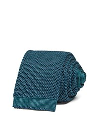 Thomas Pink Gregory Texture Knit Skinny Tie 100 Bloomingdale's Exclusive Green Navy