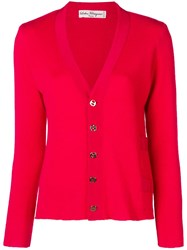 Salvatore Ferragamo Vintage 1970'S Cardigan Red