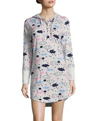 Roudelain Printed Hooded Nightshirt Ivory