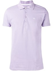 Puma Logo Embroidered Polo Shirt Purple