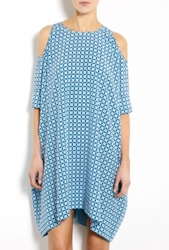 Richard Nicoll Colour Block Silk Cut Out Stella Tunic By Richard Nicoll