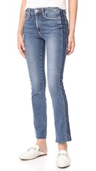 Paige Julia Straight Raw Tux Jeans Dawn Racer