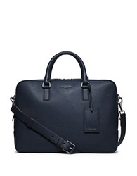 Michael Kors Bryant Leather Briefcase Blue