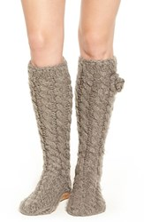 Lemon Women's 'Garden Marshmallow' Slipper Socks With Faux Fur Lining Flannel