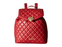 Love Moschino Quilted Knapsack Red Backpack Bags