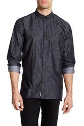 Civil Society William Long Sleeve Paisley Shirt Black