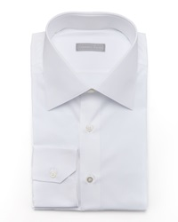 Stefano Ricci Basic Barrel Cuff Dress Shirt White