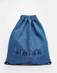Cheap Monday Denim Drawstring Bag Blue