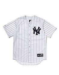 Majestic Athletic Ny Yankees Replica Jersey With Pinstripe White
