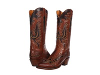 Lucchese L4625 Tan Burnished Ranch Cowboy Boots Brown