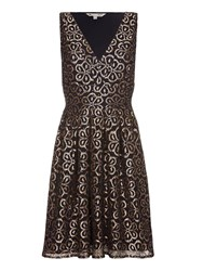 Yumi Red Lace Party Dress With Sequins Black