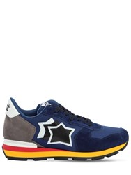 Atlantic Stars Antares Suede And Nylon Sneakers Blue