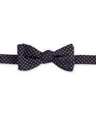 Brooks Brothers Patterned Bow Tie Navy