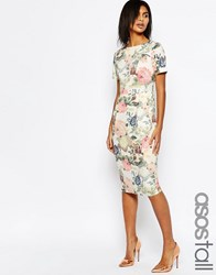 Asos Tall Occasion Floral Wiggle Dress Multi
