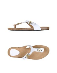 Scholl Footwear Thong Sandals Women White