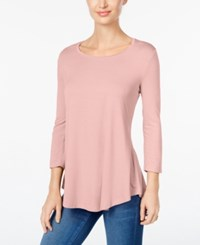 Jm Collection Scoop Neck Top Only At Macy's Silver Pink