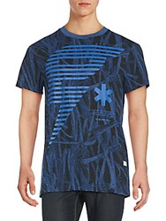 G Star Graphic Print Tee Swedish Blue