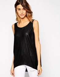 Minimum Sleeveless Oversized Top Black