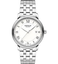 Montblanc Boheme Tradition Date 112610 Stainless Steel Watch White