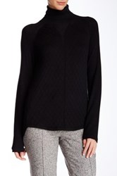 Cullen Quilted Turtleneck Sweater Black