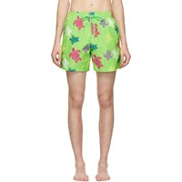 Vilebrequin Green Tortues Multicolores Moorea Shorts