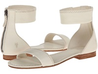 Frye Carson Ankle Zip Off White Soft Vintage Leather Women's Sandals
