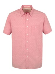Racing Green Portrait Short Sleeve Shirt Coral