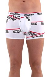 Men's Moschino Logo Print Stretch Jersey Boxer Briefs