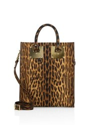 Sophie Hulme Albion Leopard Printed Leather Mini Tote